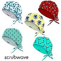 Bonnet chirurgical Scrubwave, médical, infermerie et odontologie – pack de 5 unités (Sunny days)