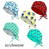 Scrubwave Medical Hats - Pack of 5 hats (Sunny days)