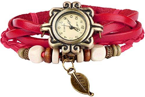 GPCT da donna Vintage, fatto a mano in foglia Orologio Rosso