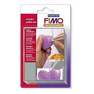FIMO Lot de 3 Eponges abrasive pour ponçage des objets Fimo durcis