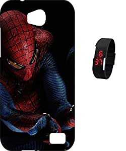 BKDT Marketing Printed Back Cover for Micromax Canvas Juice 4 Q382 with Digital Watch