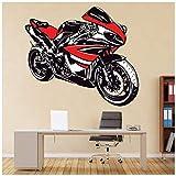 azutura Rosso e Bianco Yamaha R1 Adesivo Murale Sport motociclistici Adesivo Da Parete Garage per ragazzi arredamento Disponibile in 8 misure Gigantesco Digital