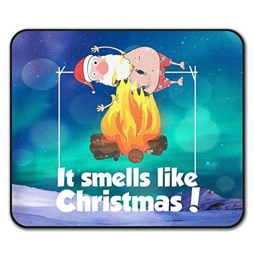 Es riecht mögen Weihnachten Weihnachtsmann Brennen Nicht Unterhose Maus Polster 24cm x 20cm   Wellcoda