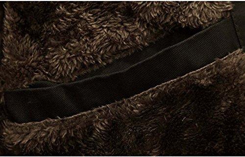 Homme Veste à Capuche Hiver Manteau Blouson Parka Veston Noir