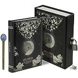 LY Como Un Sueño Luna patrón dibujo escritura con cerradura Notebook 288 páginas diario diario secreto