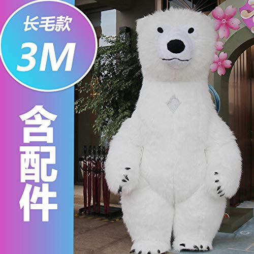 YYYDHW Giant Panda Cartoon Doll Kleidung Net Cartoon Doll Kostüm Puppe@Eisbär 3 Meter_Eine - China Doll Baby Kostüm