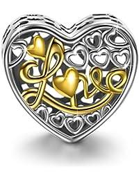 NinaQueen Regalo de Amor Abalorio de mujer de plata de ley