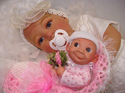 """Reborn Baby""""Emelie mit Püppi""""Puppe,Spielpuppe,Sammlerpuppe,Babypuppe,Reborn Puppe für Kinder"""