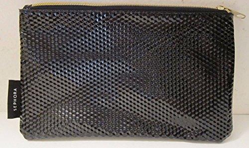 sephora-cosmetic-makeup-bag-clutch-purse-with-zip-closure-black