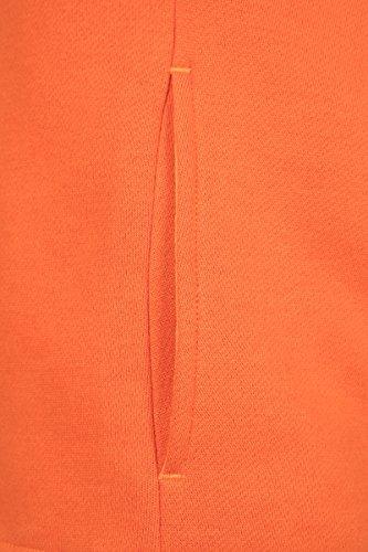 Urban Classic Damen Kapuzenpullover Ladies Kimono Hoody Rust Orange