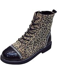 Stivaletti Donna Invernali Moda con Zip Leopardati E Stivaletti di Velluto  Stivali dc0438272d3