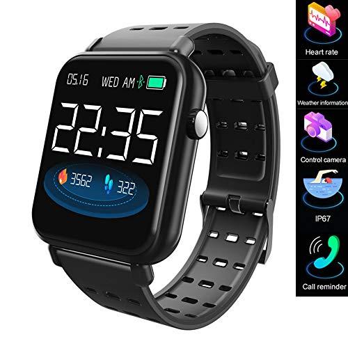 Smart watch/smart bracciale 2019, fitness tracker, con misuratore di frequenza cardiaca per la misurazione della pressione arteriosa nel sangue IP67 orologio sportivo impermeabile, musica - tre colori