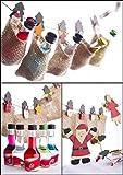 Likör Adventskalender (24 Jutesäckchen - 24 Flaschen - 24 Sorten) | (24x 20 ml) | verschiedene Likörsorten in weihnachtlicher Aufmachung | Geschenkidee zu Weihnachten