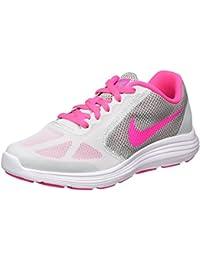 Nike 819416-007, Zapatillas para Niñas, Blanco (Pr Pltnm / Pnk Blst Wlf Gry Wht), 35 1/2 EU