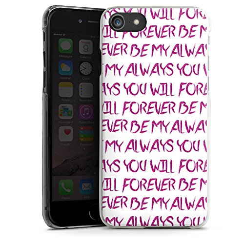 Apple iPhone X Silikon Hülle Case Schutzhülle Spruch Liebe Herz Forever Hard Case transparent