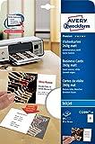 Avery Zweckform C32096-10 Premium Visitenkarten mit Leinenstruktur (80 Stück, 85 x 54 mm, beidseitig bedruckbar) 10 Blatt