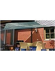Eduplay Sonnenschutz Sonnensegel, wasserdurchlässig, Farbe:Grün;Größe:3.5x4.5m