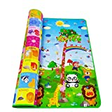 Babyee Double Sided Baby Crawl Mat for Kids Water Proof Baby Mat Carpet