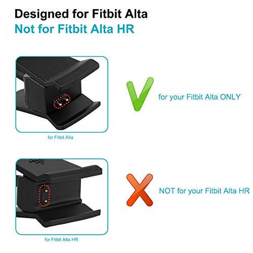 FunBand Fitbit Alta Charger, [2-Pack] Replacement USB