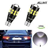 AGLINT T15 W16W LED Ampoule CANBUS Sans Erreur 3030 22SMD Extrêmement Lumineux 912 921 Ampoules Pour Auto LED Sauvegarde Inversée Ampoule, Xenon Blanc (T15 21SMD)