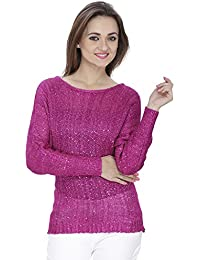 SVT ADA COLLECTIONS Knitted Puple Color Party WEAR Elegant TOP with Designer Back (024311_Purple_Medium)