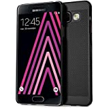 Coque Galaxy A3,Grandcaser Metalic Look Series Housse Etui Léger Bumper Mince PC Back Cover Coque pour Samsung Galaxy A3 (2016) - Noir
