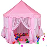 Toyboy Kids Play Tent Large Portable Children Playhouse for Boys Girls Toddlers - Pink