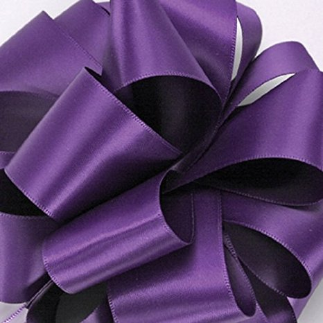Zipperstop Offray Double-Face Satin Ribbon 1. 5 Inch 50 Yards Regal Purple, Several Colors + Custom Print