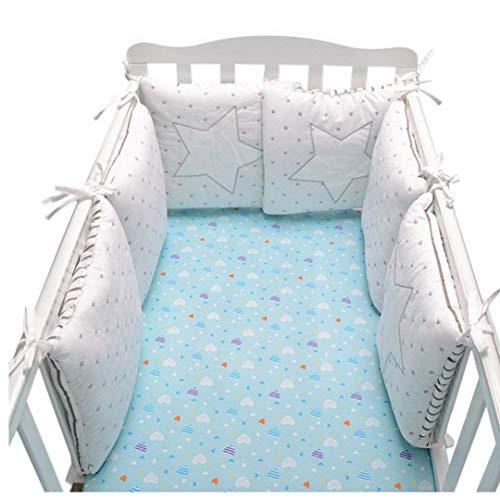 AMOYER Infantil del Pesebre del bebé Protectores para Cama de algodón Seguridad barandilla, Cuna Protector...