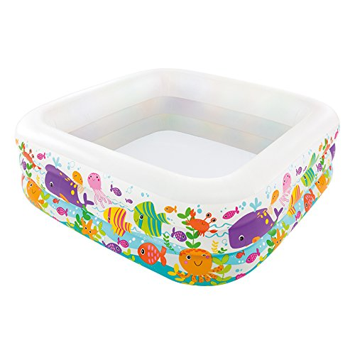 Intex 57471NP - Aufblasbarer Pool Swim Center Clearview Aquarium, 62 x 62 x 19 Zoll