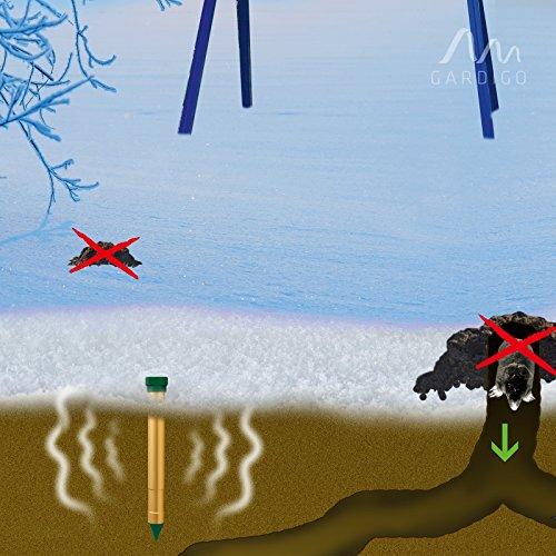 Maulwurfschreck - Gardigo Maulwurfvertreiber Vibrasonic 4er Set Wühlmausvertreiber Ameisenabwehr