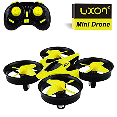 Boys Toys Drones Indoor or Outdoor Flying Toys Headless Mode 2.4G 4CH 6Axis Quadcopters for Kids Beginners Gifts(Yellow) By Luxon