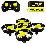 Spielzeug für Jungen Mini-Drohne für Kinder Jungen drinnen oder draußen Kopflos Modus Einfache Kontrolle 2.4G 4CH 6Axis Gyro CF-Modus Ein Schlüsselrückkehr Quadcopter RTF Jungs Spielzeug (Gelb)