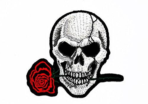sterben nie Playboy Skull Ghost Skelett Valentine 's Day Motorräder Patch für Heimwerker-Applikation Eisen auf Patch T Shirt Patch Sew Iron on gesticktes Badge Schild Kostüm (Skelett Valentines)