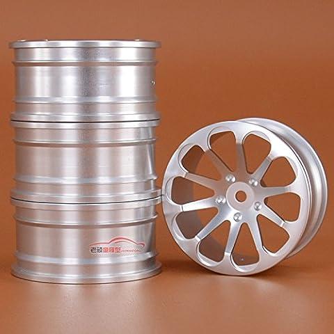 Junsi 4PCS Silve Aluminium Alloy Wheel Rim Felge Hex 12mm for 1/10 HSP 94123 Sakura D4 Tamiya Yokomo HPI RC Drift Car