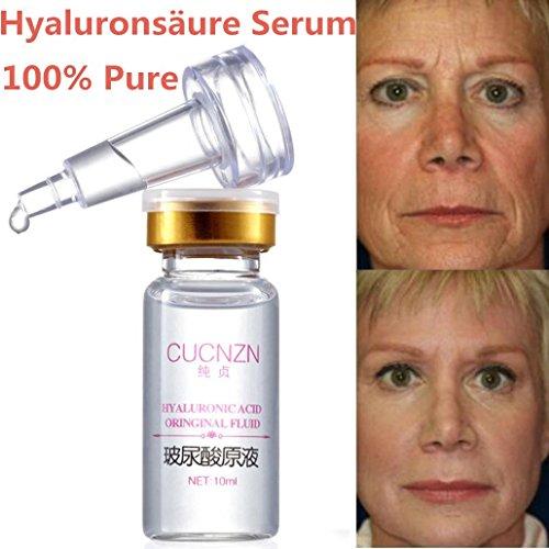 100% Reines Hyaluronsäure Serum, hochdosiert Anti Aging Lifting serum Für Gesicht, Hals 10ml Wirklich Effektiv für Anti-Falten
