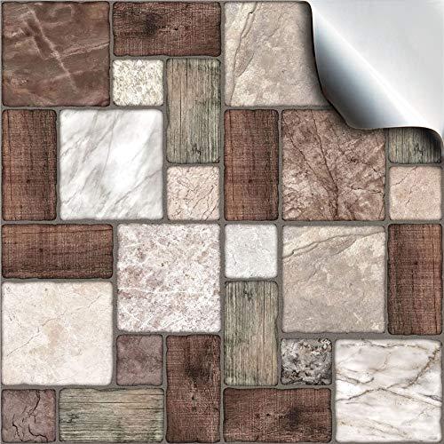 24x mosaico mármol Lámina impresa 2d PEGATINAS lisas