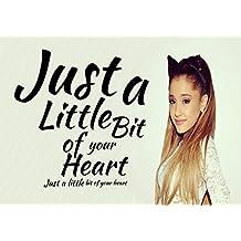 Ariana Grande–un poco de su corazón 5–Pop Star Superstar cantante Sexy Lady mejor Color fotos única impresión A4cartel laminado