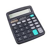 Fuente de alimentación solar portátil de 12 dígitos, calculadora científica para estudiantes, escuela, estudio, color negro