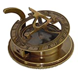 Kompass mit Sonnenuhr / Messing / Antik / Nautic / Sonnenuhranzeiger / Schiffsausstattung / praktisch zum verschließen