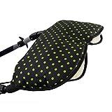 BAMBINIWELT universaler Muff/Handwärmer für Kinderwagen, Buggy, Jogger mit Wolle, PUNKTE (schwarz grüne Punkte)