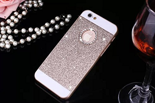 JAWSEU Coque Etui pour iPhone 7 Plus,iPhone 7 Plus Plastique Coque Ultra Slim,iPhone 7 Plus Hard Case Pailletee Bling Housse Etui,2017 Neuf Luxury Design Femme Homme Fashion Ultra Mince Thin Cristal C Or*