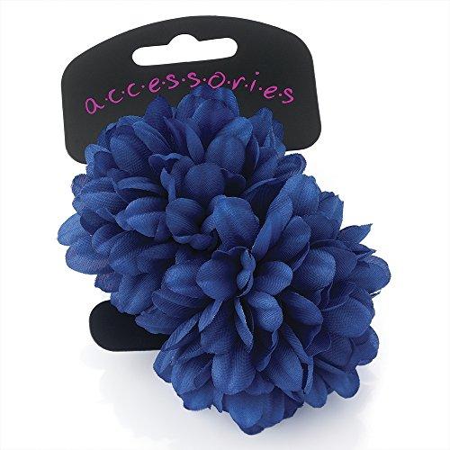 1Paar Kleine Royal Blau Blume Haargummis Donuts Haargummis
