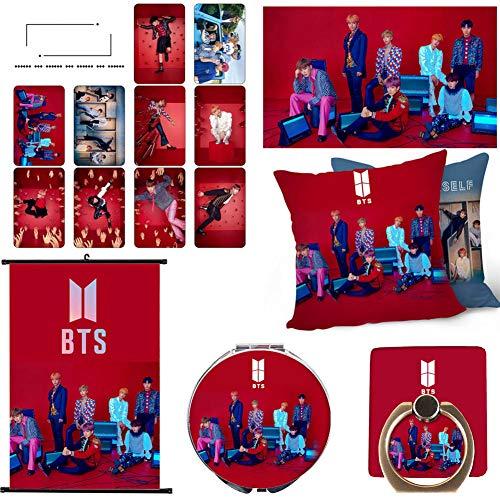 Grapes Garden BTS Poster, BTS Schminkspiegel, Handy Halterung, BTS Kissenbezug, 10 BTS Photocard Set, Bildlauf Malen Geschenk für Army(H16) (Bts Kissenbezug)