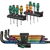 Wera Schraubendrehersatz Kraftform XXL, 12-teilig + Wera Winkelschlüsselsatz 950 SPKL/9 SM N Multicolour