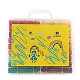 36 couleurs Kids 'Marker Collection Crayon bâtons colorés non toxiques et sécuritaires - stylo de couleur lavable pour stylo graffiti (taille : 36 colors)