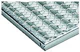 ACO Vario Streckmetallrost 75x50 cm 1x Gitter-Rost zum Einlegen in die Vario Bodenwanne für außen