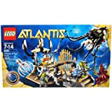 Lego Year 2010 Atlantis Series Set #8061 Gateway Of The Squid With Traps, Treasures, Octopus Prison Cage, Monstrous Giant Squid, Squid Warrior And 2 Diver Minifigures (Total Pieces: 353)