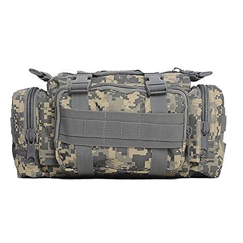 Camouflage Taillenbeutel Universal Casual Outdoor Gear Tragekit Kapazitäts Werkzeug Gürtel Taille Pack , color 5 , 30*19*8cm