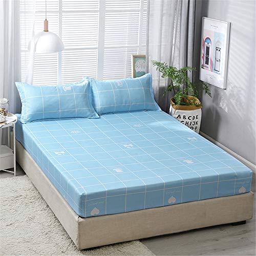 WENXIAOXU Weiche blätter Bett schoner Bezug mit Nässeschutz, Atmungsaktiv, Allergie und Anti Milben Schutz für Hausstauballergiker,Einfache rutschfeste B-10 150 * 200 * 23cm